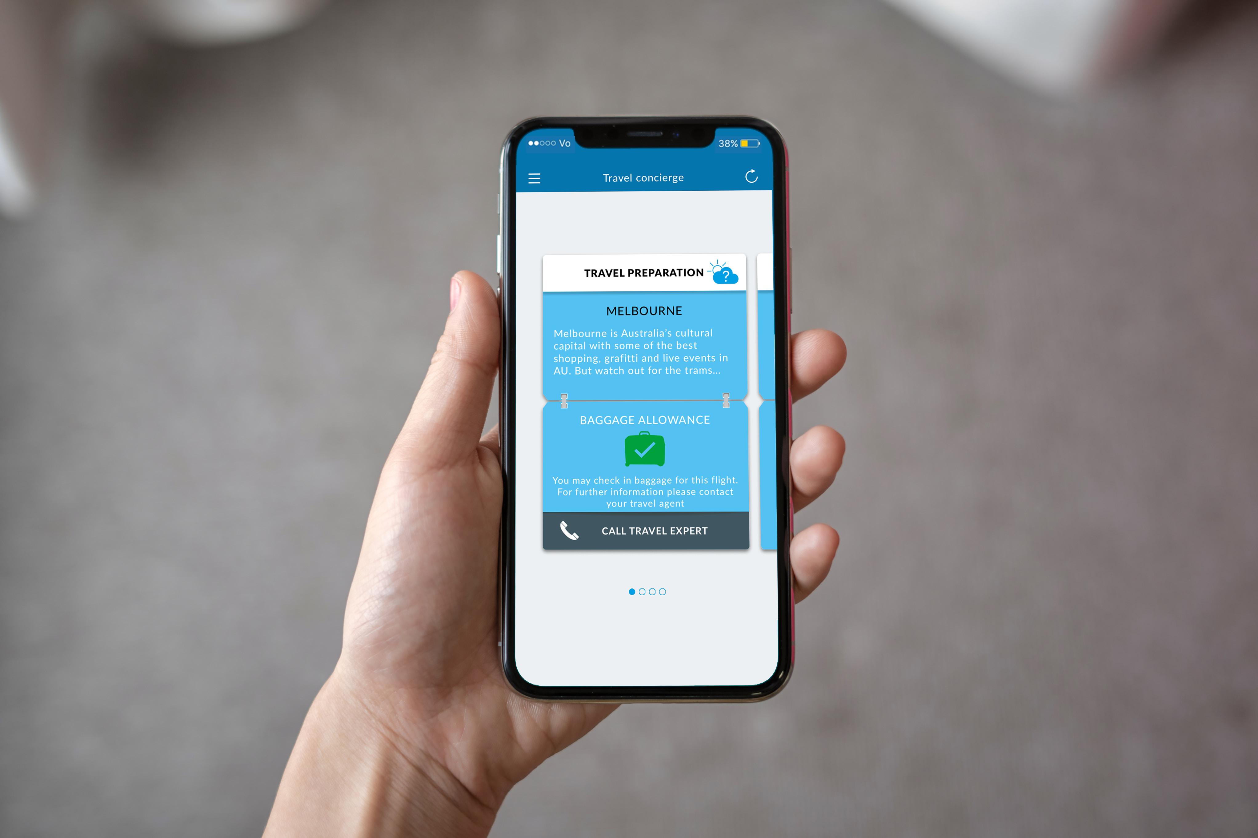 Mobile App Hand